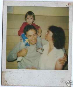 Carole e a filha dos dois